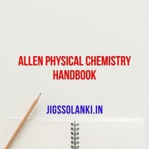 Allen Physical Chemistry Handbook