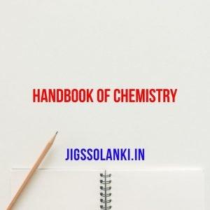 Handbook Of Chemistry